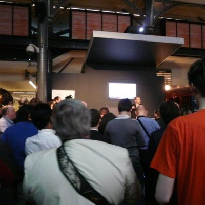 Crowd at London IPv6 launch event