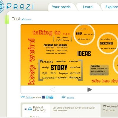 Prezi presentation first trial out of software
