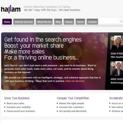 New Hallam.biz website