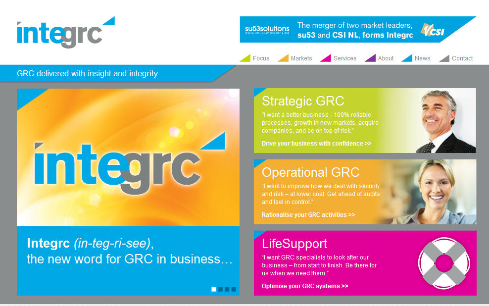 Integrc new website landing page